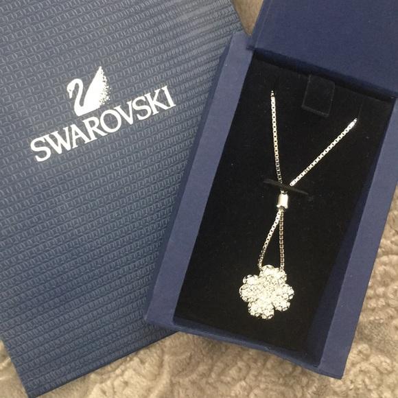 be9d119bd37af3 NIOB Swarovski crystal 4 leaf clover 🍀 necklace